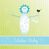 De jongen van Snowbaby Stock Fotografie