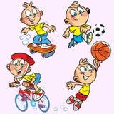 De jongen van sporten Royalty-vrije Stock Afbeeldingen