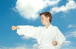 De jongen van vechtsporten royalty-vrije stock afbeeldingen