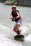 De Jongen van Wakeboarding Royalty-vrije Stock Afbeelding