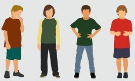 De Jongens van de Basisschool Stock Afbeelding