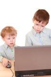 De jongens van de computer Stock Fotografie