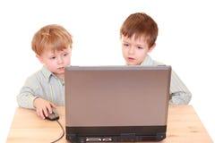 De jongens van de computer Royalty-vrije Stock Fotografie