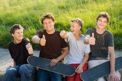De jongens van de tiener Royalty-vrije Stock Afbeeldingen