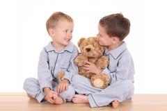De jongens van Pijama Royalty-vrije Stock Fotografie