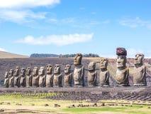De 15 jongens van Tongariki Stock Afbeelding