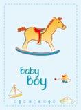 De jongens welkome kaart van de baby Royalty-vrije Stock Foto