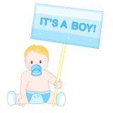 De jongensaankondiging van de baby Royalty-vrije Stock Afbeeldingen