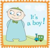 De jongensaankondiging van de baby Royalty-vrije Stock Fotografie