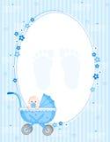 De jongensachtergrond van de baby Stock Fotografie