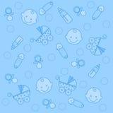 De jongensachtergrond van de baby Stock Foto's