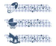 De jongensbanners van de baby met texturen Royalty-vrije Stock Foto's
