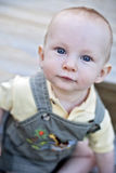 De jongensgezicht van de baby Stock Fotografie