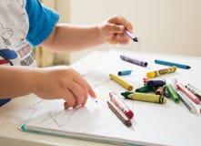 De jongensillustratie en tekening van het jonge geitje drawing Royalty-vrije Stock Afbeeldingen