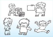 De jongensillustratie van het beeldverhaal Stock Foto's