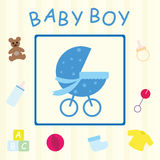 De jongenskaart van de baby Stock Foto's