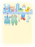 De jongenskledingstuk van de baby Stock Afbeeldingen