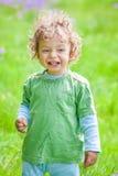 de jongensportret van de 1 éénjarigebaby Stock Foto's