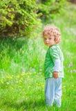 de jongensportret van de 1 éénjarigebaby Stock Foto