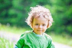 de jongensportret van de 1 éénjarigebaby Royalty-vrije Stock Fotografie