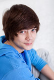 De jongensportret van de tiener Stock Foto's