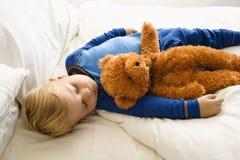 De jongensslaap van de baby. Royalty-vrije Stock Afbeelding
