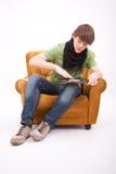 De jongensspel DJ van de tiener Royalty-vrije Stock Foto's