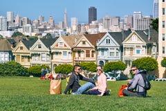 De jongeren in San Francisco parkeert stock fotografie