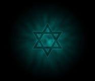 De Joodse achtergrond van Kippur van Yom met David Star Stock Fotografie