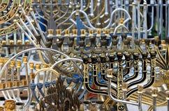 De Joodse achtergrond van vakantiekandelaars. Stock Foto's