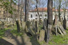 De Joodse Begraafplaats in Praag Stock Foto