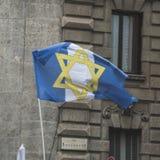 De Joodse Brigade neemt aan de parade van de Bevrijdingsdag deel Royalty-vrije Stock Afbeeldingen