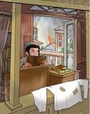 De Joodse jongen las Torah, Illustratie Stock Fotografie