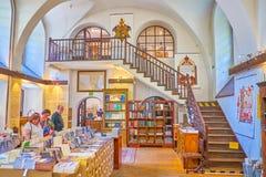 De Joodse literatuurboekhandel in Krakau, Polen royalty-vrije stock fotografie