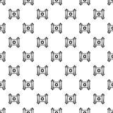 De Joodse naadloze vector van het papyruspatroon stock illustratie
