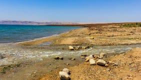 De Jordan River Baptism-plaats stock foto's