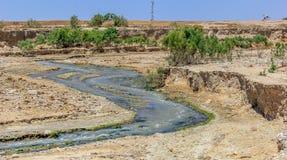 De Jordan River Baptism-plaats stock fotografie