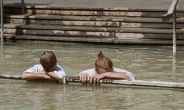De Jordan River Baptism-plaats stock afbeeldingen