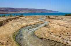De Jordan River Baptism-plaats royalty-vrije stock afbeeldingen