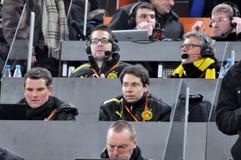 De journalisten van Borussia Royalty-vrije Stock Foto's