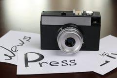 De journalistiek van de nieuwscamera stock foto's