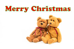 ` De Joyeux Noël de ` de message d'ours de nounours Image stock