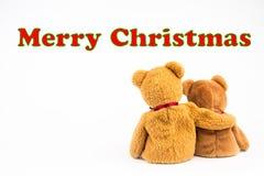 ` De Joyeux Noël de ` de message d'ours de nounours Image libre de droits