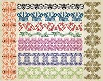 De Jugendstil van het patroon royalty-vrije illustratie