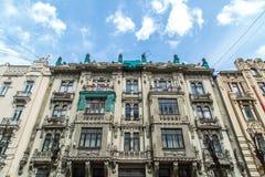 De Jugendstilbouw in Riga Alberta Street Royalty-vrije Stock Afbeeldingen