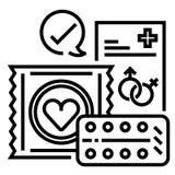 De juiste illustratie van de geboortenbeperkingslijn stock illustratie