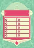 de Juke-boxachtergrond en Kader van de jaren '50stijl Royalty-vrije Stock Afbeelding