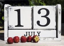 13 de julho Foto de Stock
