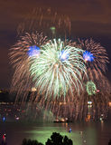 4 de julho baía Tacoma Washington de Commentment da celebração foto de stock