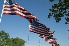 4 de julho bandeiras Imagem de Stock Royalty Free